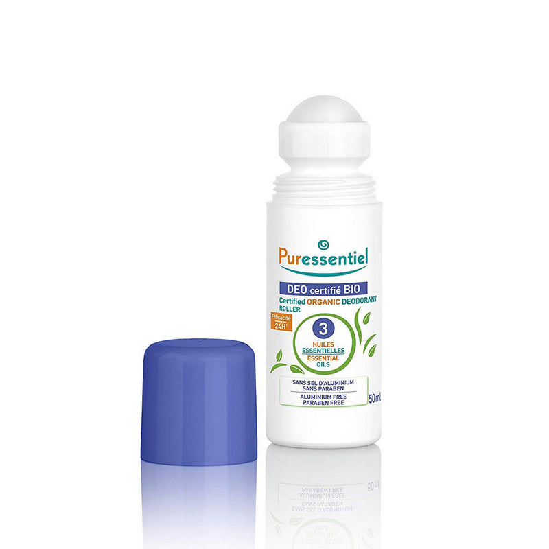 Certified Organic Deodorant Roller with 3 Essential Oils