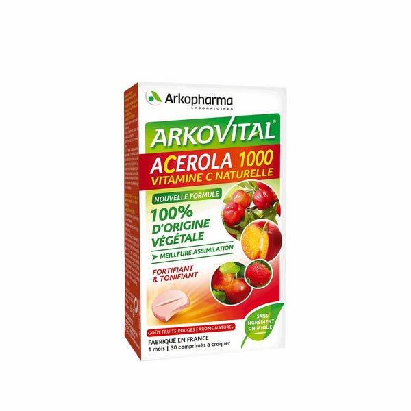 Arkovital Acerola 1000 Natural Vitamin C Chewable Tablets