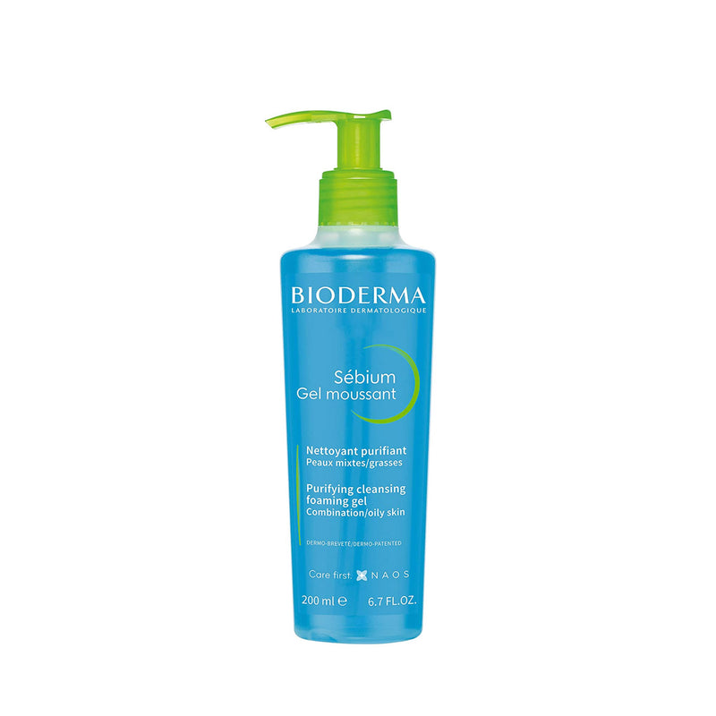 Sébium Gel Moussant - Purifying Cleansing Foaming Gel for Combination, Oily Skin