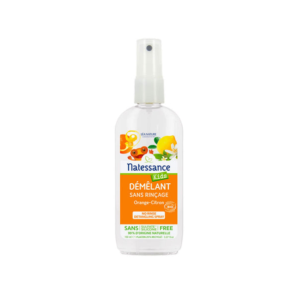 Kids No Rinse Detangling Spray - Orange-Lemon Scent
