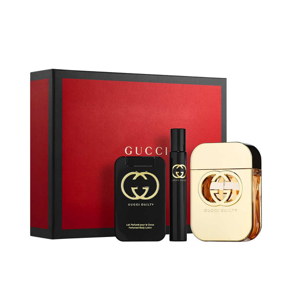 Guilty Gift Set: Eau de Toilette 75ml + Eau de Toilette Rollerball 7.4ml + Body Lotion 100ml