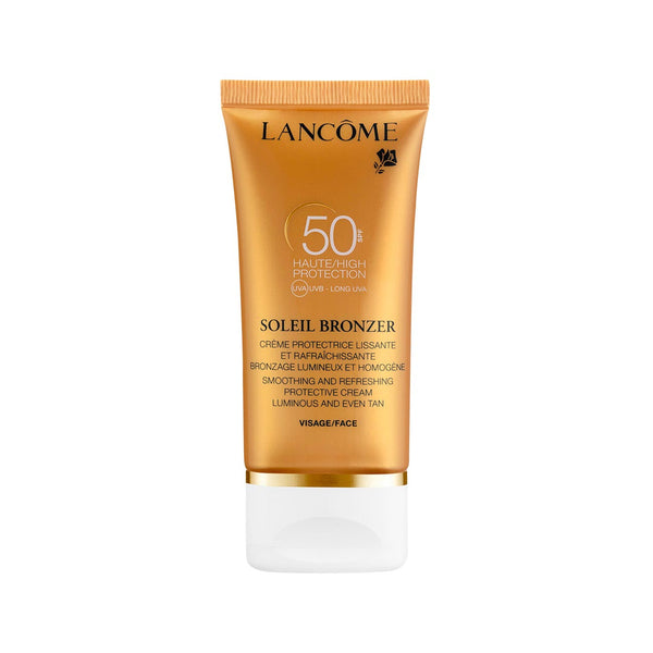 Soleil Bronzer - Smoothing and Refreshing Protective Cream Luminous and Even Tan - Face SPF50
