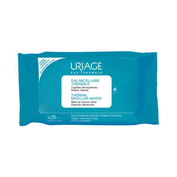 Thermal Micellar Water - Make-up Remover 25 Wipes - Normal to Dry Skin