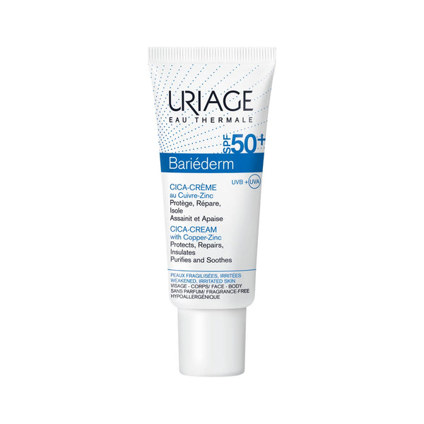 Bariéderm Cica-Cream with Copper-Zinc SPF50+ - Weakened Irritated Skin