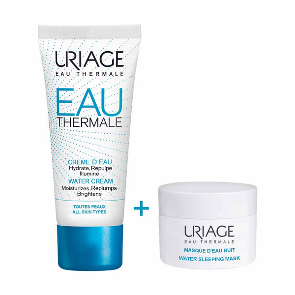 Eau Thermale My 24H Hydration Duo: Eau Thermale Water Cream All Skin Types 40ml + Water Sleeping Mask 15ml