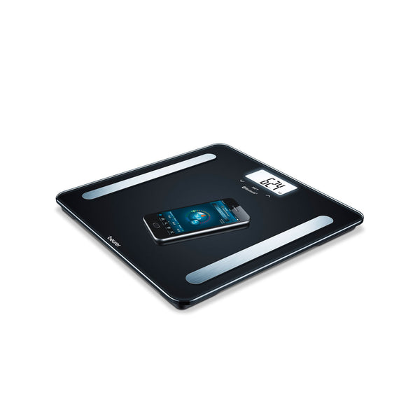 WELLBEING DIAGNOSTIC BATHROOM SCALE BLACK *BF600