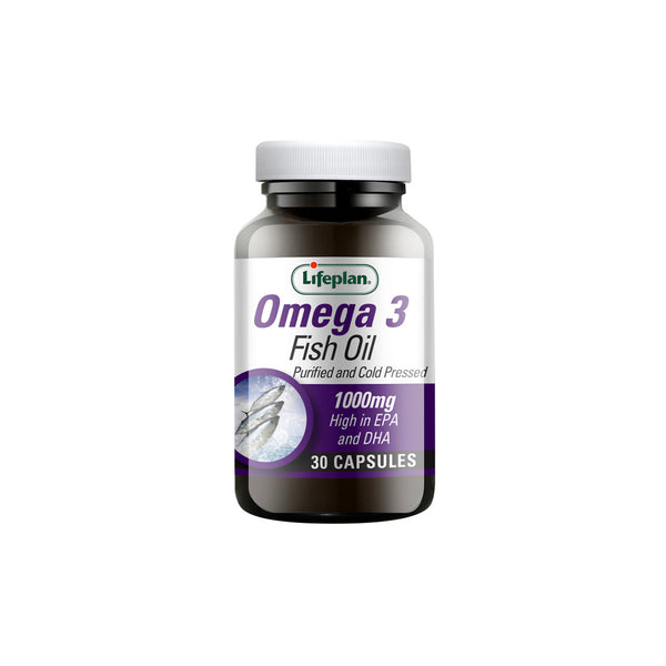 Omega 3 Fish Oil 1000mg - Purified and Cold Pressed