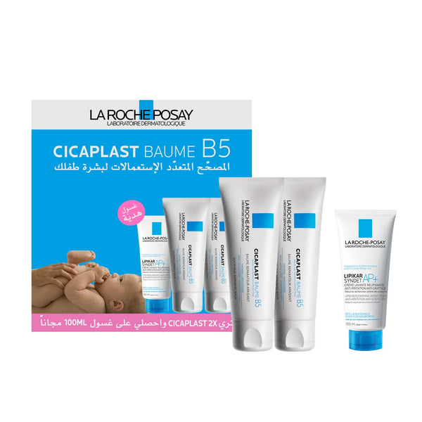 Cicaplast Baume B5 Set: Pack of 2 x 40ml + Lipikar Syndet AP+