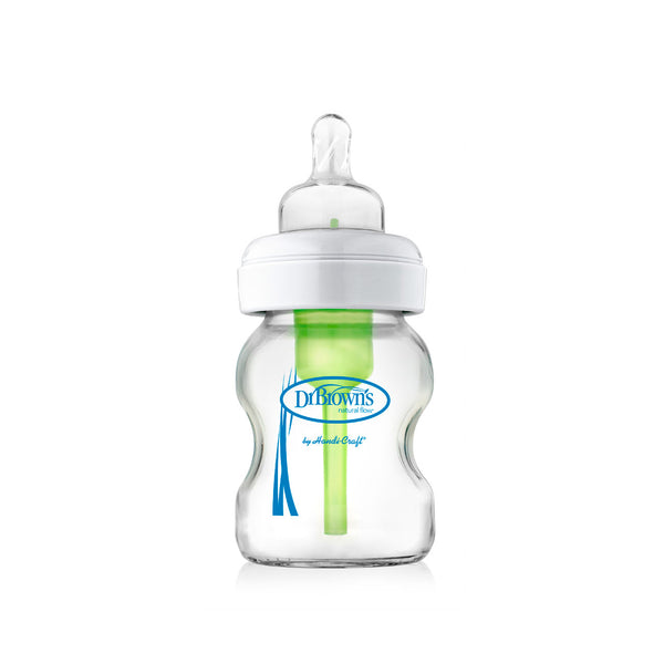 Options+ Anti-Colic Wide-Neck Glass Baby Bottle