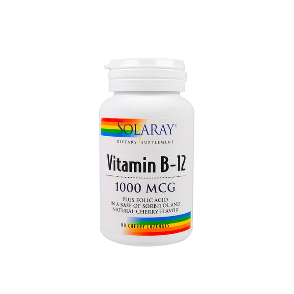 Vitamin B-12 1000mcg Plus Folic Acid in a Base of Sorbitol and Natural Cherry Flavor