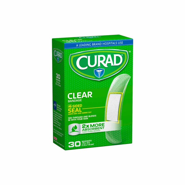 Clear Adhesive Bandages - Box of 30
