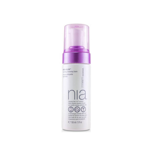 NIA Wash + Glow Hydrating Cleansing Foam