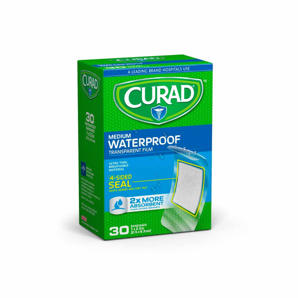 Medium Waterproof Bandages - Box of 30