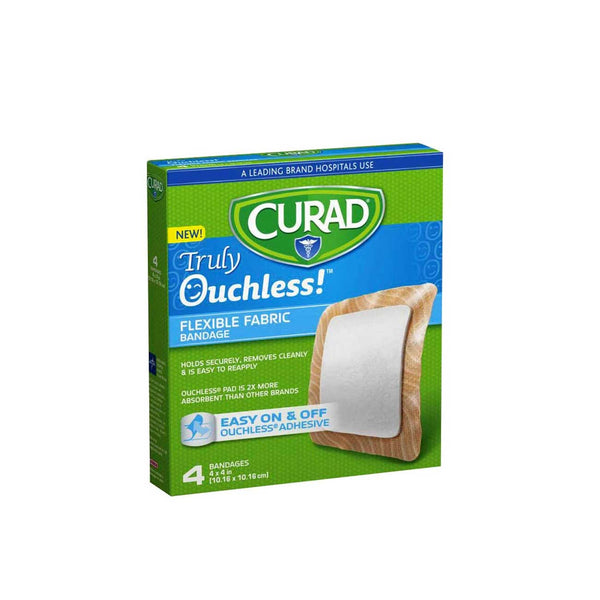 Truly Ouchless! Flexible Fabric Bandage - Box of 4