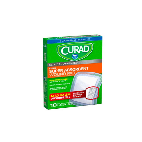 Clinical Advances Super Absorbent Small Wound Pads Box of 10