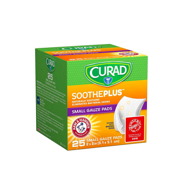 SoothePlus Small Gauze Pads - Pack of 25