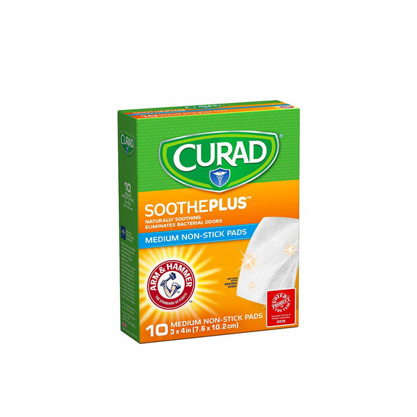 SoothePlus Medium Non-Stick Pads - Box of 10