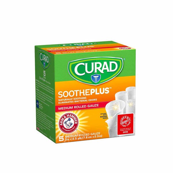 SoothePlus Medium Rolled Gauze - Box of 5