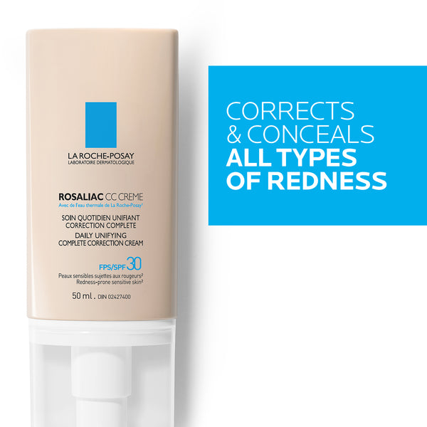 Rosaliac CC Cream Daily Unifying Complete Correction Cream SPF 30 - Redness Prone Sensitive Skin