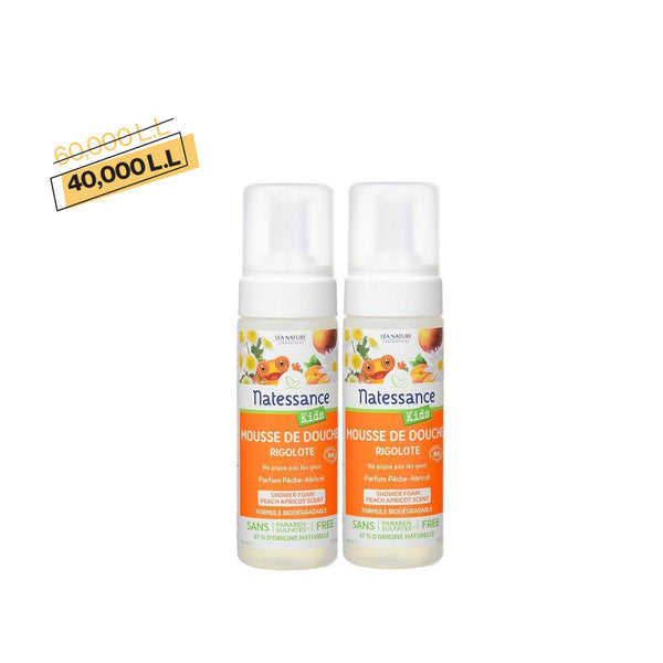 Kids Shower Foam - Peach Apricot Scent -Pack of 2