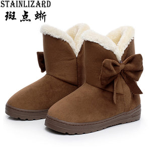 Cotton women ankle boots platform flat women winter shoes