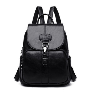 Multifunction Women Leather Backpack