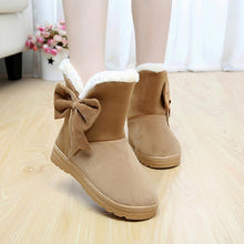 Load image into Gallery viewer, Cotton women ankle boots platform flat women winter shoes