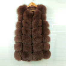 Load image into Gallery viewer, Women Fox Fur Coat