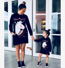 Load image into Gallery viewer, Mother Daughter Unicorn Print Sweatshirts