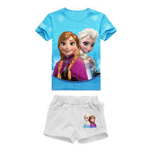 Load image into Gallery viewer, Girls Elsa Princess Anne Clothing T Shirt Summer