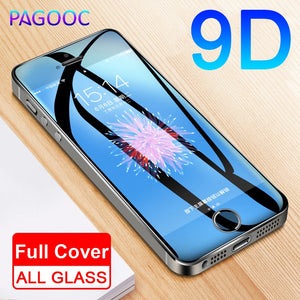 9D Protective Glass On The For iPhone 5S 5 5C SE