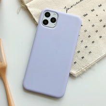 Load image into Gallery viewer, Solid Color Silicone Couples Cases for iphone