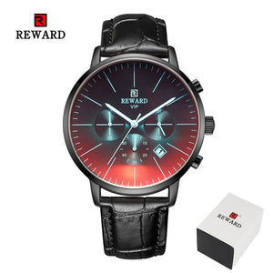 Luxury Brand Chronograph Men's Stainless Steel Business Clock Wrist Watch