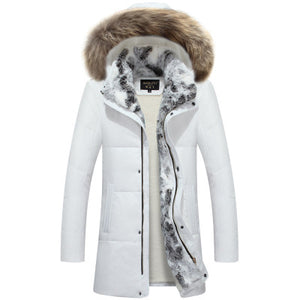 Long Raccoon Fur Parka Warm Rabbit Plus Size Outerwear
