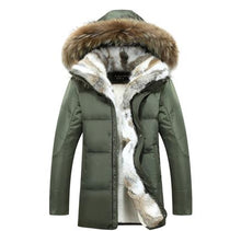 Carregar imagem no visualizador da galeria, Long Raccoon Fur Parka Warm Rabbit Plus Size Outerwear