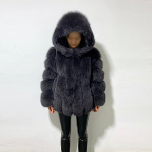 Genuine Leather Woman's Real Fur Jacket