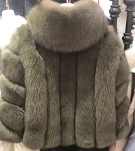 Load image into Gallery viewer, Genuine Leather Woman's Real Fur Jacket