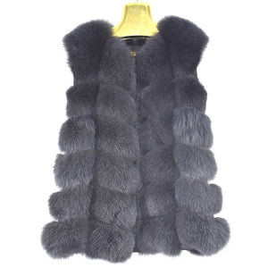Red fox fur vest