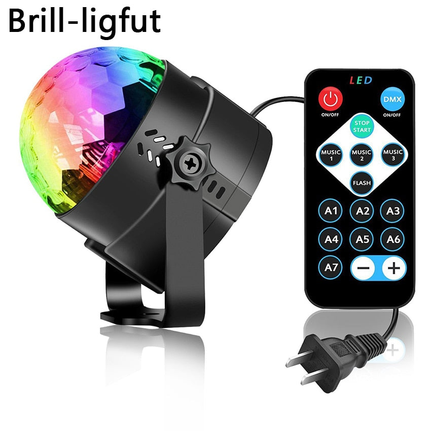 Sound Activated Rotating Disco Ball Party Lights