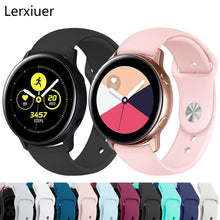 Load image into Gallery viewer, Soft Silicone bracelet 20mm 22mm strap Galaxy watch band