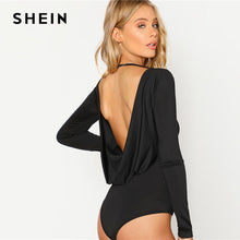Laden Sie das Bild in den Galerie-Viewer, Skinny Bodysuit Round Neck Open Back