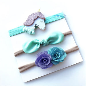 Neonata Bow Flower Elastic Headband