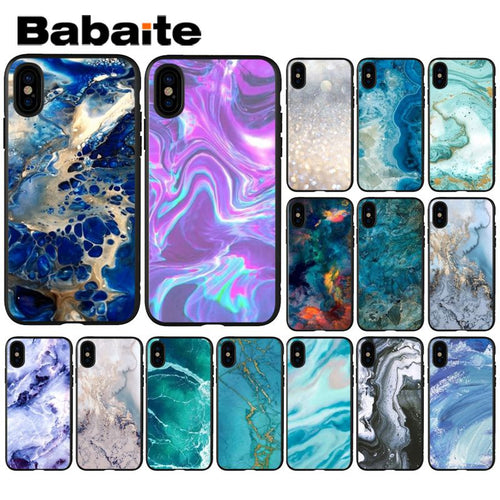 Art Marble Paint Luxury Unique Design Phone Cover for iPhone