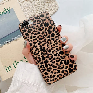 Leopard Print Phone Case Cover for iPhone  Soft Back Colourful Cases