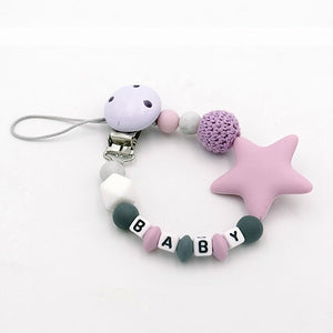 Colorful Silicone Personalized Letter Pacifier Clips