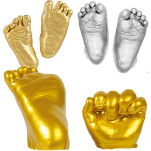 3D Baby Hand Foot Print Plaster Casting Kit