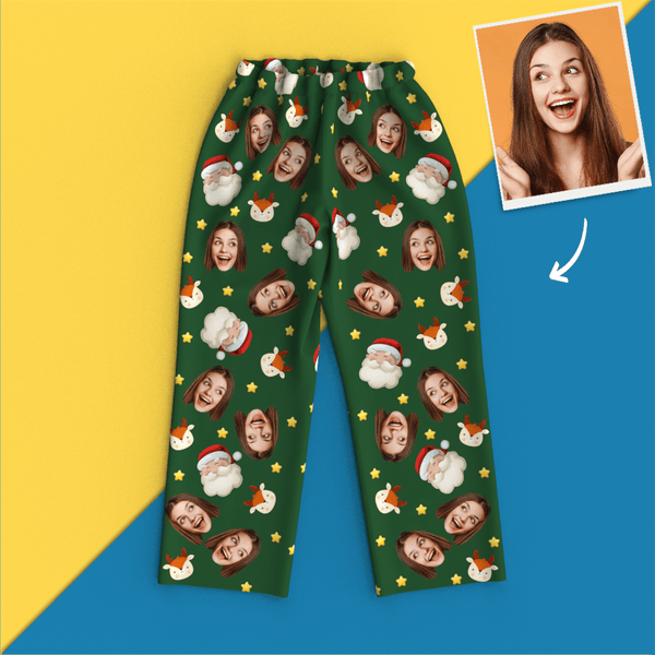 Custom Face Photo Christmas Personalized Pajamas Santa Claus