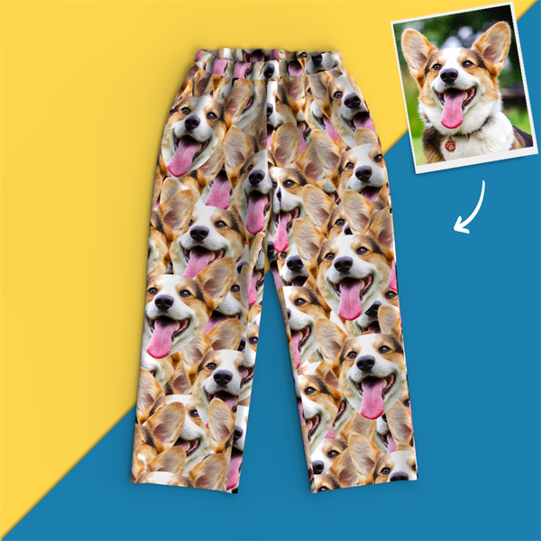 Custom Face Pajamas - Face Mash Dog