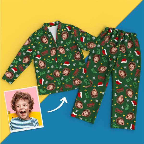 Custom Face Christmas Elf Pajamas
