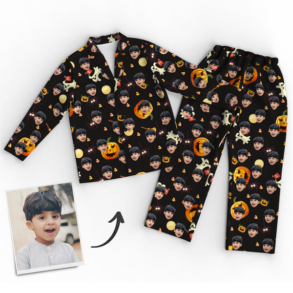 Custom Face Photo Pajamas Halloween For Children